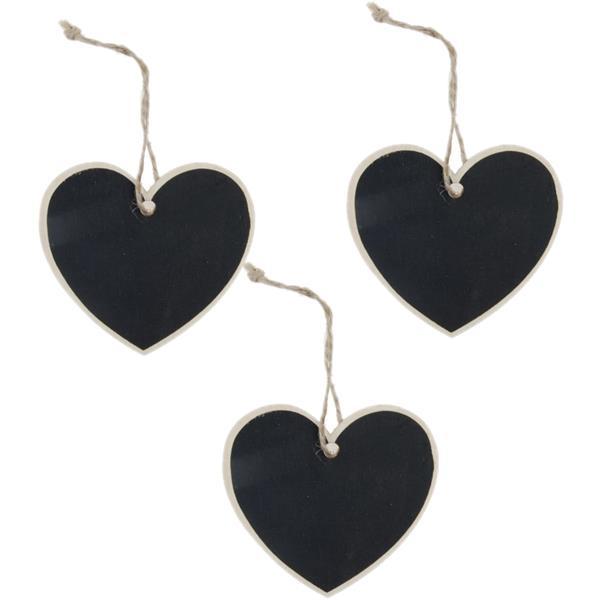 Conjunto 3 Mini Ardósias Coração