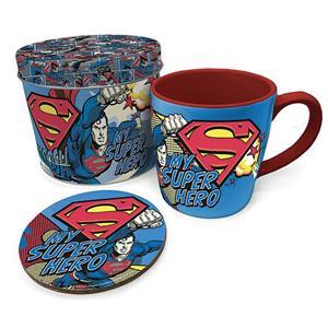 Conjunto Caneca e Base Super Homem Marvel