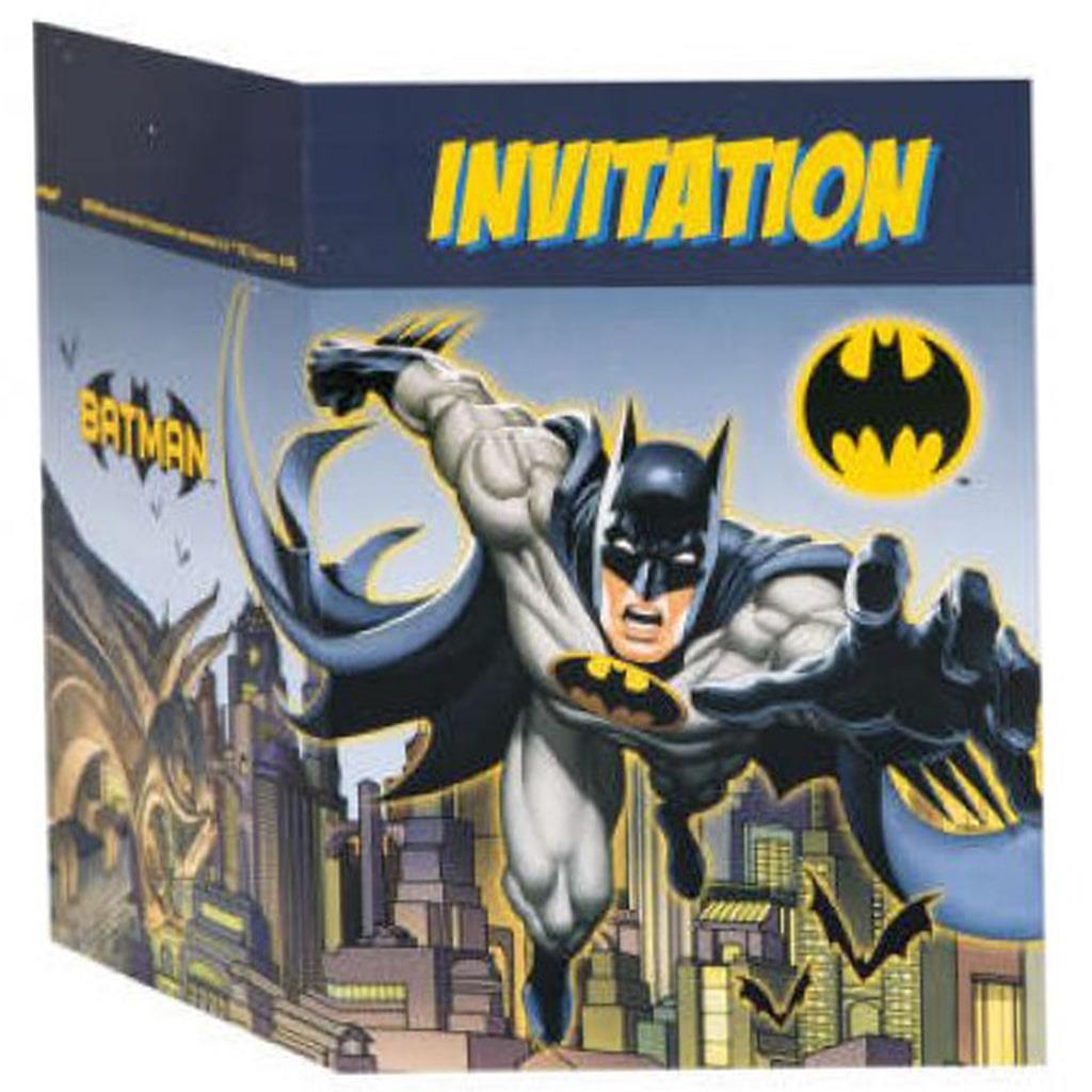 Convites Batman, 8 unid.