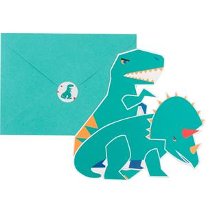 Convites Dinossauro, 8 unid.