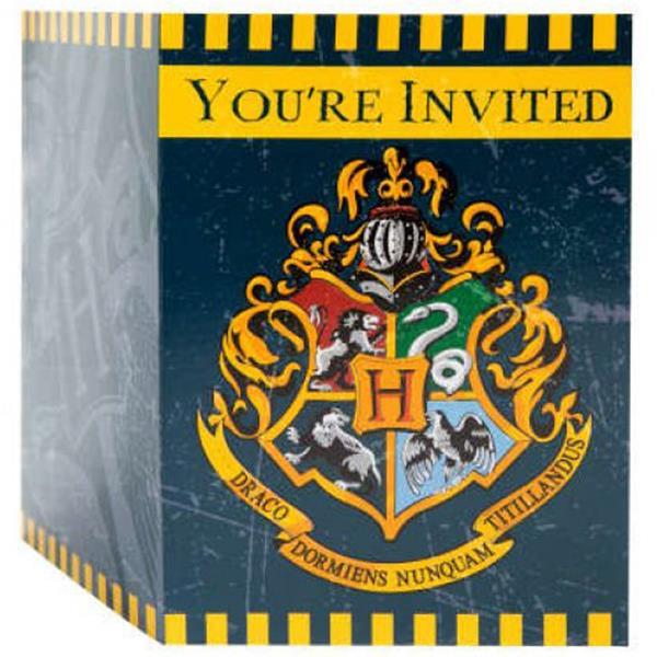 Convites Harry Potter, 8 unid.