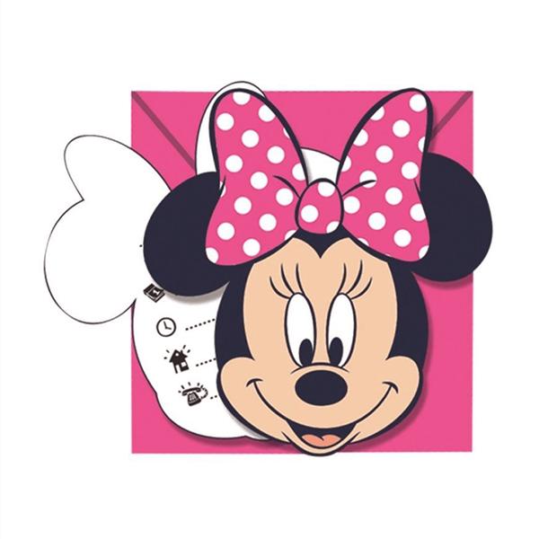 Convites Minnie, 6 Unid.