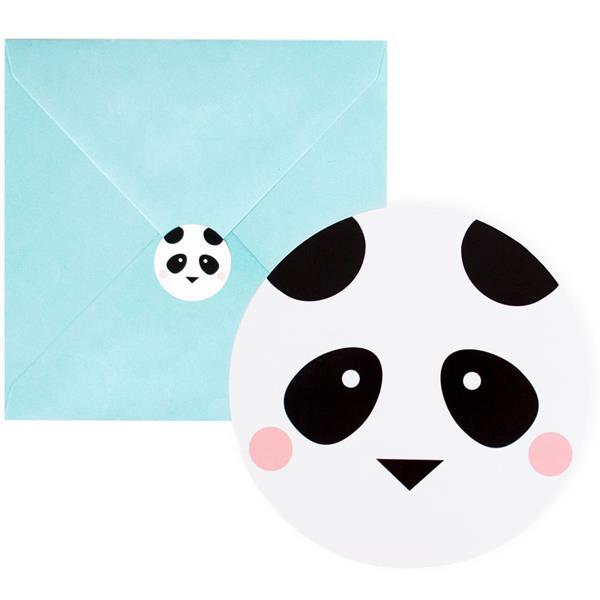 Convites Panda Amoroso, 8 unid.