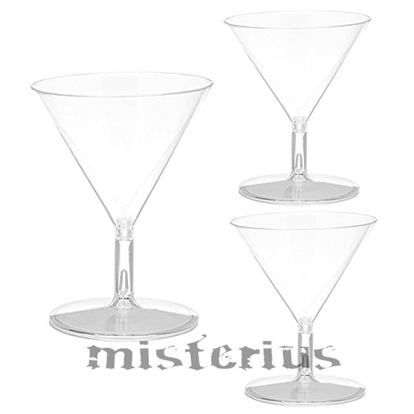Copo Cocktail Transparente em Plástico, 3un