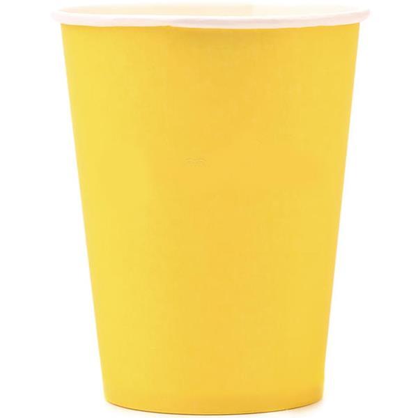 Copos Amarelo, 8 unid.