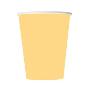 Copo Papel Amarelo, 8 Unid.