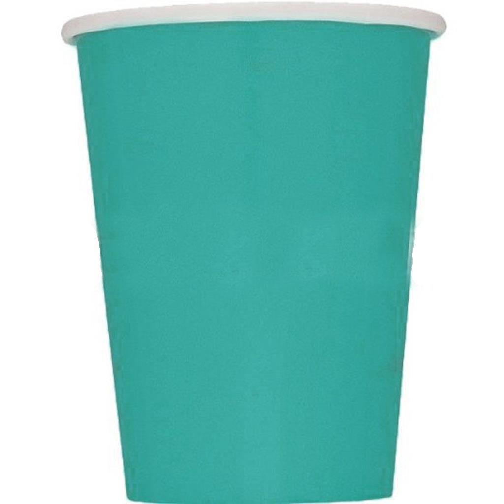Copos Azul turquesa ,8 Unid.