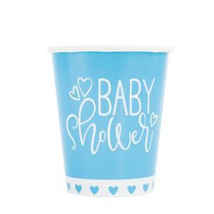 Copos Baby Shower Azul, 8 unid.