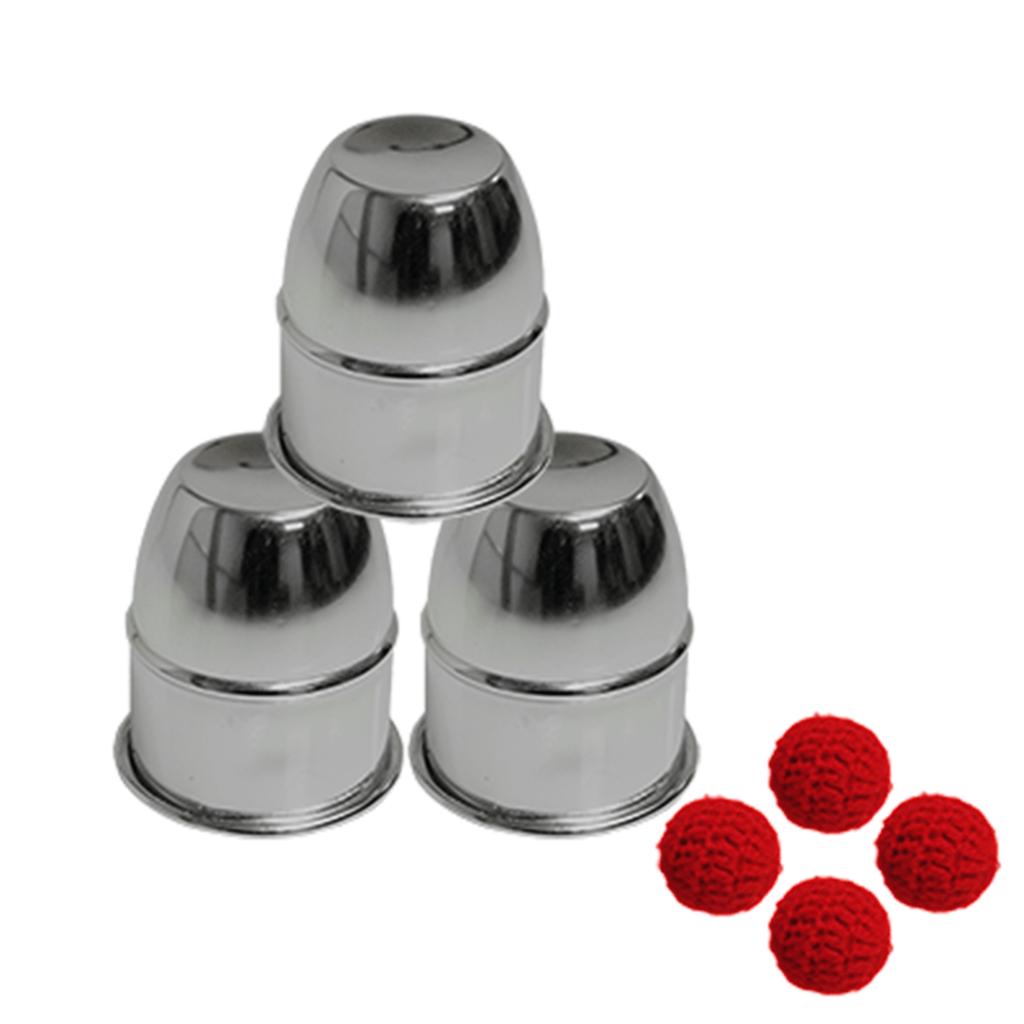 Copos e Bolas - Alumínio com íman- Combo Cups and Balls