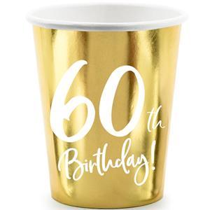 Copos Dourados 60 Anos, 6 unid.