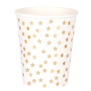 Copos Estrelas Douradas, 8 unid.