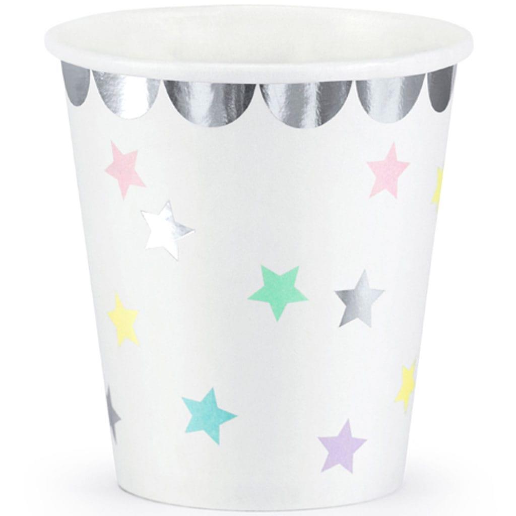 Copos Estrelas Pastel, 6 unid.