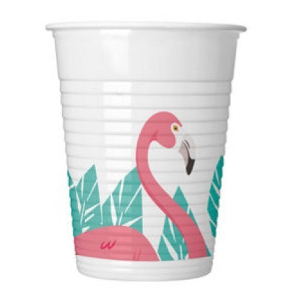 Copos Flamingo, 8 unid.