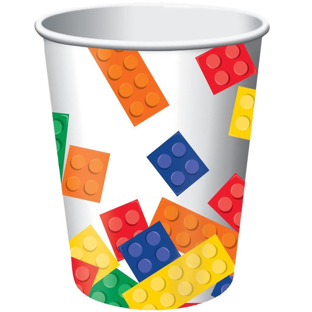 Copos Papel Lego Block Party, 8 unid.