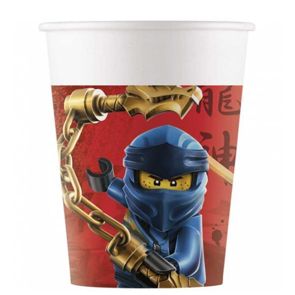 Copos Lego Ninjago, 8 unid.