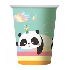 Copos Panda Arco-íris, 6 unid.