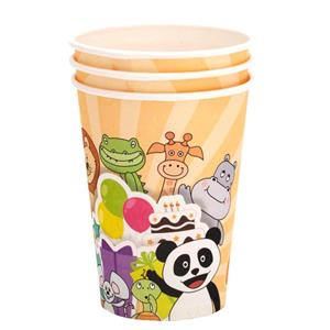 Copos Panda e os Animais, 8 unid.