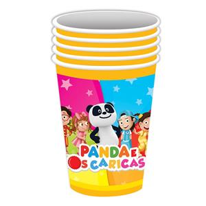 Copos Panda em Papel, 8 unid.