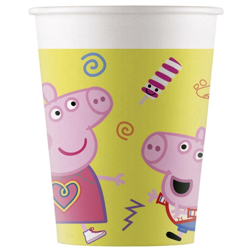Copos Peppa Pig, 8 unid.