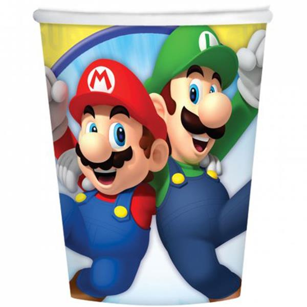 Copos Super Mario, 8 unid.