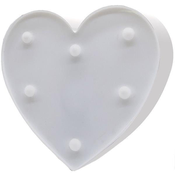 Coração Decorativo com Luz, 16 cm