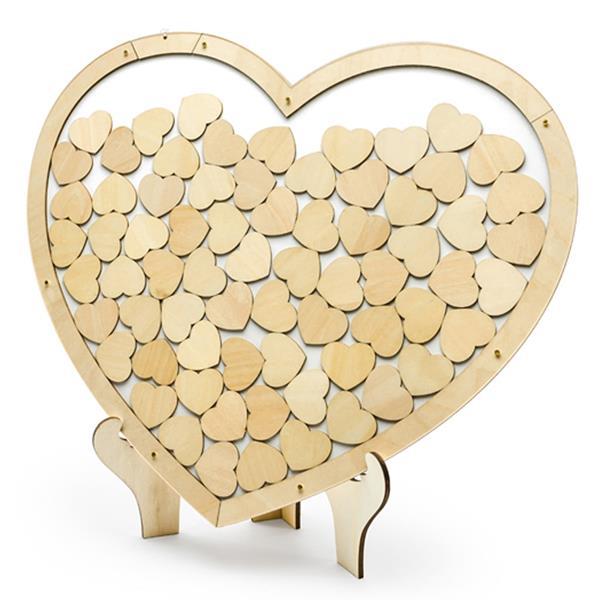 Coração Efeito Madeira Dedicatórias aos Noivos