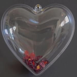Corações Transparentes, 10 cm, 2 unid.