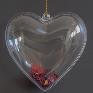 Corações Transparentes, 8 cm, 2 unid.