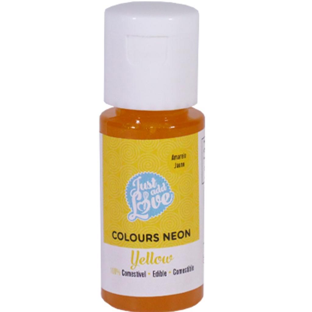 Corante em Gel Amarelo Neon, 25 ml