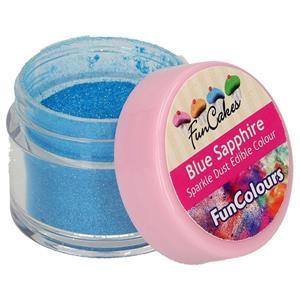 Corante em Pó Comestível Glitter Azul Safira, 1.5 gr