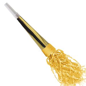 Corneta Metalizada Dourada