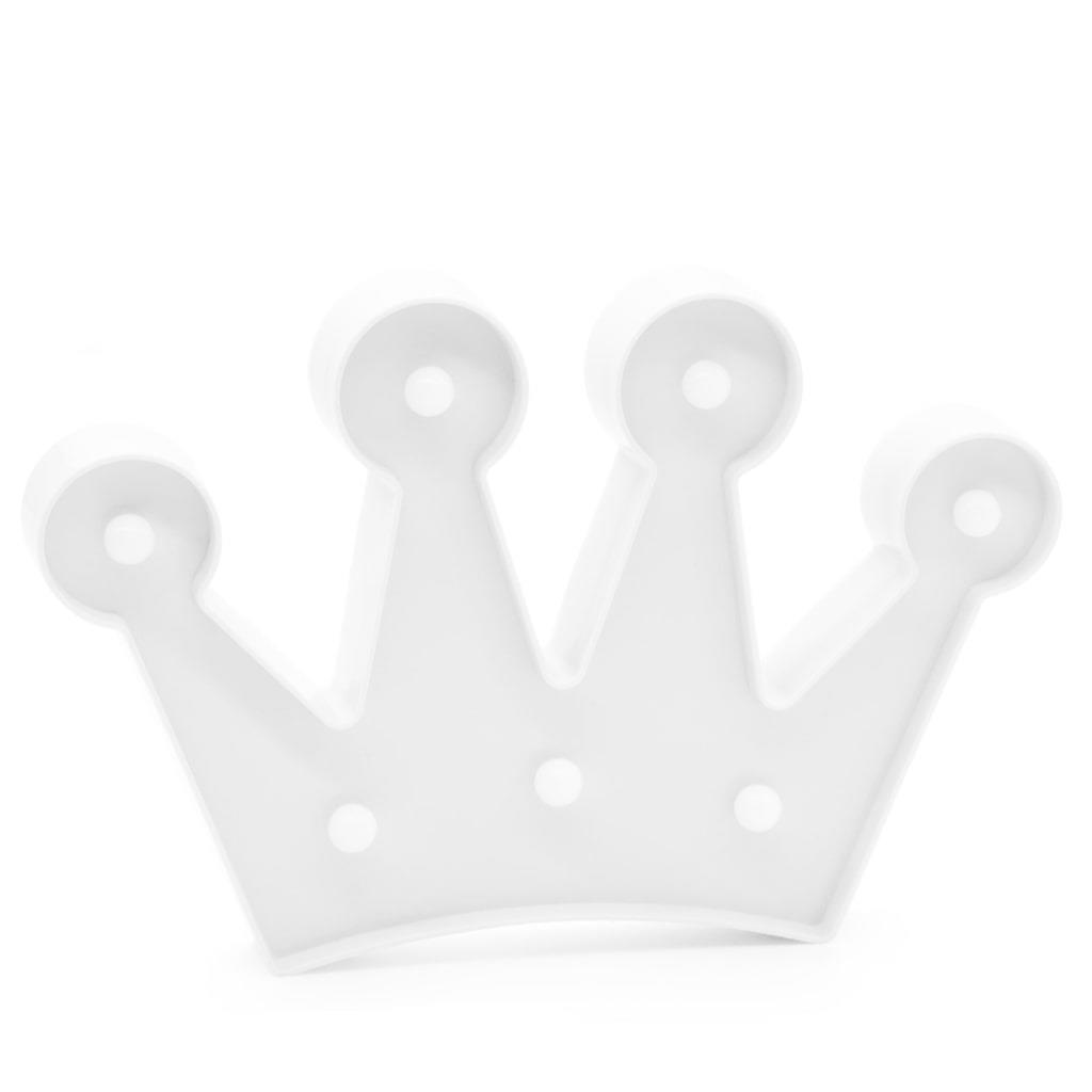 Coroa Branca Decorativa com Luz, 17 cm