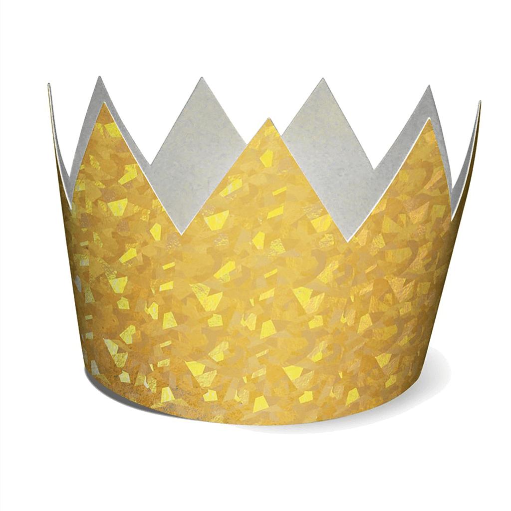 Coroa Cartão Dourada, 6 Unid.