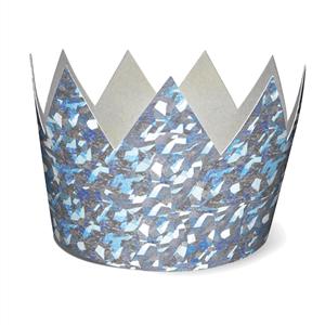 Coroa Cartão Prateada, 6 Unid.