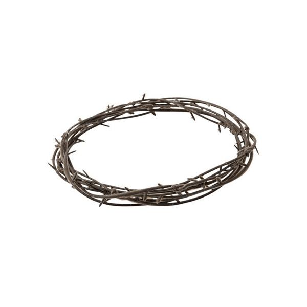 Coroa Castanha com Espinhos em Plástico