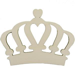 Coroa com Coração em Madeira, 15 cm