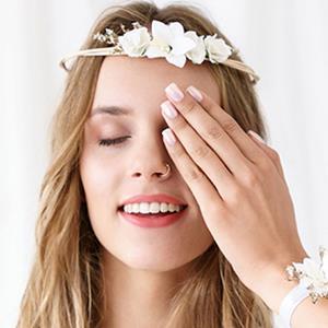 Coroa com Flores Brancas Damas de Honor