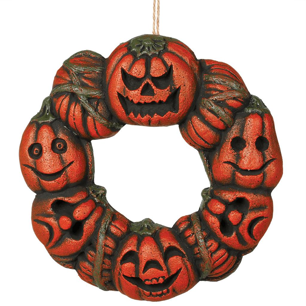 Coroa de Porta com Abóboras, 35 cm