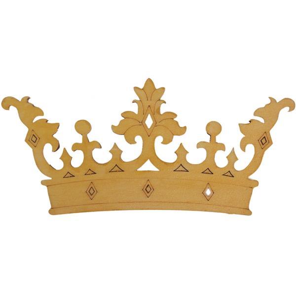 Coroa de Rei Decorativa em Madeira, 15 cm