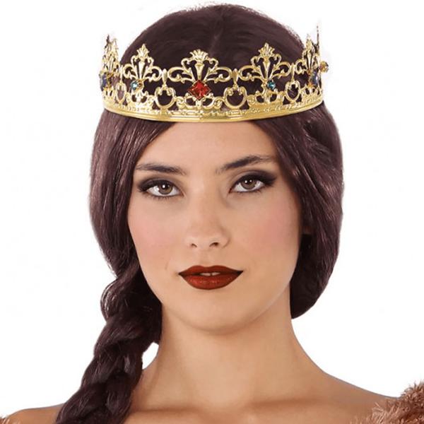 Coroa Dourada com Rubis