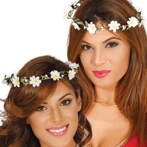 Coroa Flores Margaridas Brancas