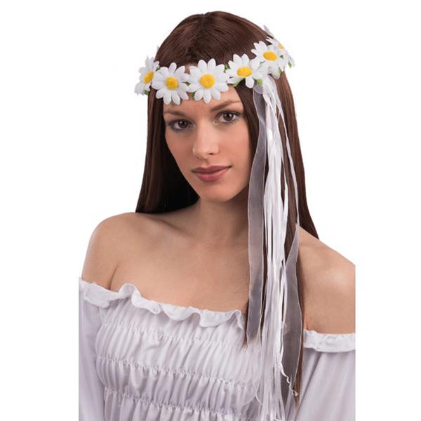 Coroa para Cabeça com Malmequeres Brancos