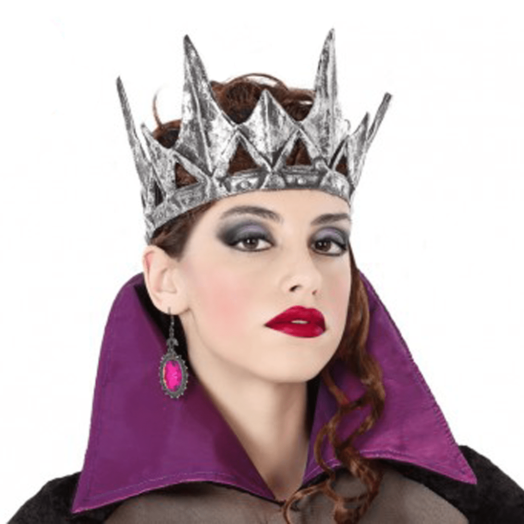Coroa Prateada Rainha Maléfica