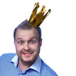 Coroas Papel Dourado, 3 Unid.