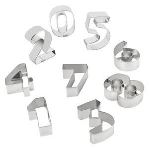 Cortadores para Bolachas Números, 10 unid.