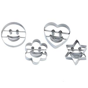 Cortadores para Bolachas Smile, 4 unid.