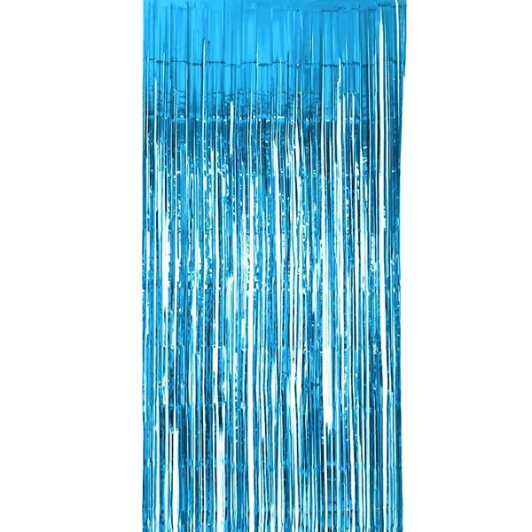 Cortina Azul Brilhante, 200 x 100 cm