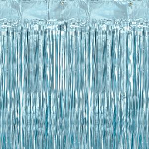 Cortina Azul Claro Metalizado, 90 x 250 Cm