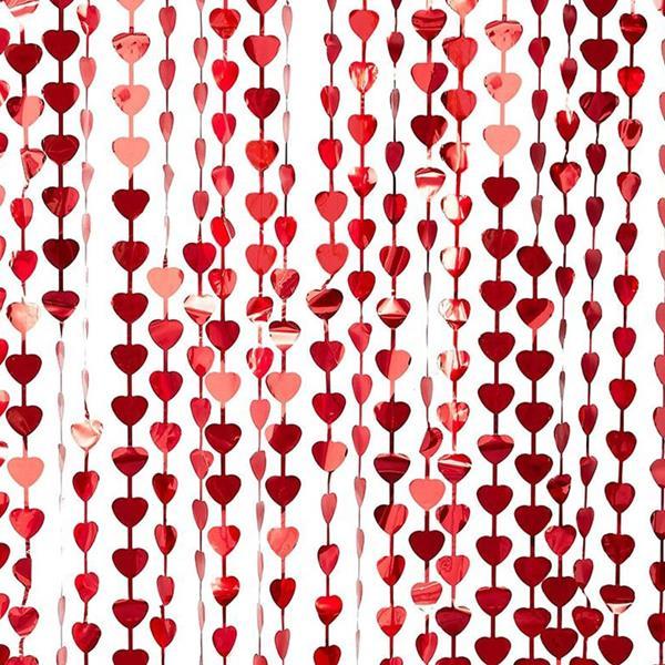 Cortina Corações Vermelhos, 2 mt