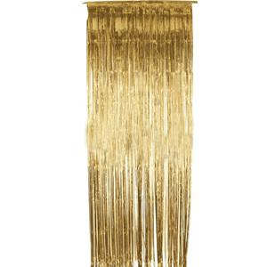Cortina Dourada Metalizada 91*244cm